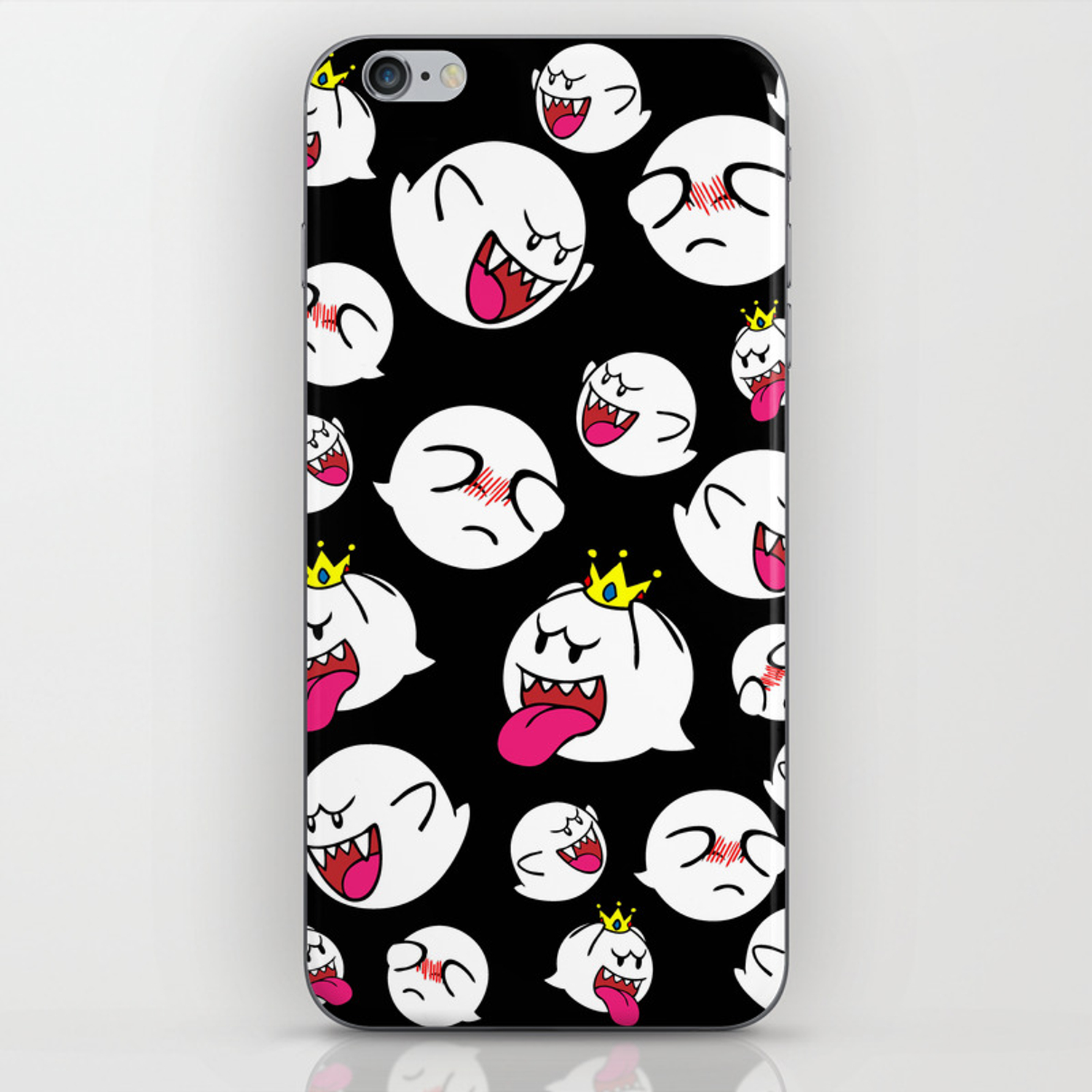 Mario Bros BOO Phone Case iPhone Skin by quigalchemist