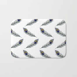 The Peacock's Feather Pattern Bath Mat