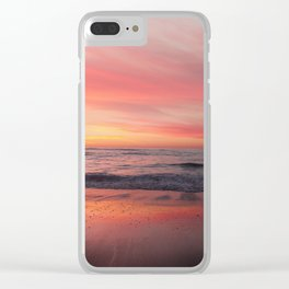 Blushing Sky Clear iPhone Case