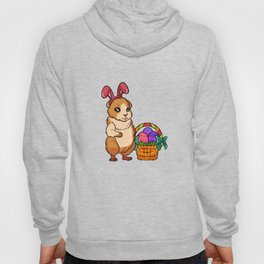 Cute Easter Guiena Pig on Egg Hunt Gift For Animal Lovers Hoody