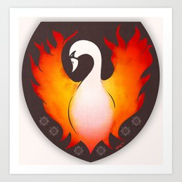 SwanFire Family Crest Art Print