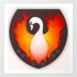 SwanFire Family Crest Art Print