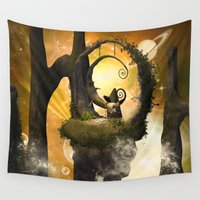 wonderland Wall Tapestries featuring Wonderland  by nicky2342