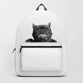 frenchie licking you Backpack