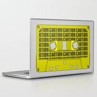 tape Laptop & iPad Skins featuring Caution Tape by Resistance