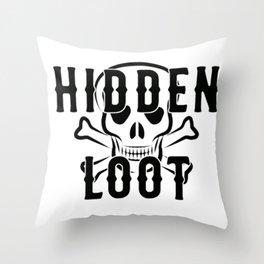Crossed Bones Throw Pillow