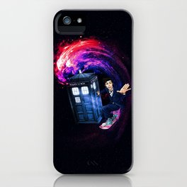 Doctor Who Space Surfing iPhone Case