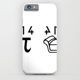 Pi Phi pun cake funky gift iPhone Case