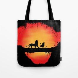 Lion king sunset Tote Bag