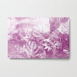 Bahamas Daydream - Tropical Rainforest Beach Lavender Purple Metal Print