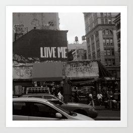 Love Me Art Print