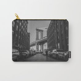 New York City Bridge (Black and White) Carry-All Pouch