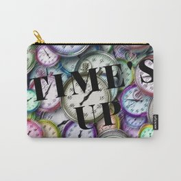 Time's Up Motif with Script by Jeanpaul Ferro Carry-All Pouch