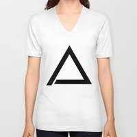 triangle V-neck T-shirts featuring TRIANGLE by eARTh
