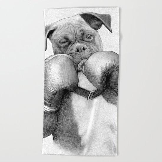 The Boxer Beach Towel