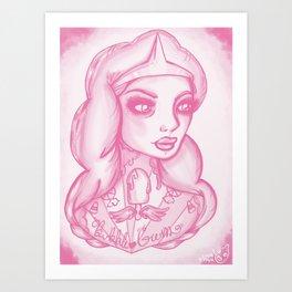 Princess Bubblegum Art Print