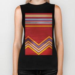 Stripes and Chevrons Ethic Pattern Biker Tank