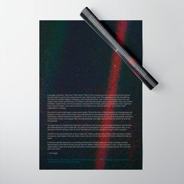 Pale Blue Dot - Voyager 1 & Carl Sagan quote Wrapping Paper