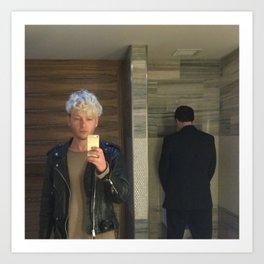 untitled (selfie in men's room) Art Print