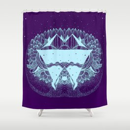 Some there out in the he space Shower Curtain