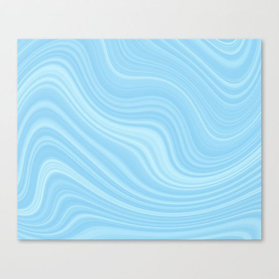 Blue wave abstract. Canvas Print