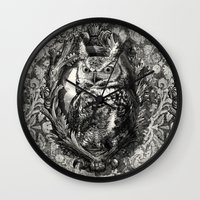 eric fan Wall Clocks featuring Nightwatch - by Eric Fan and Garima Dhawan  by Eric Fan