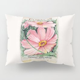Cosmos Seed Packet Pillow Sham