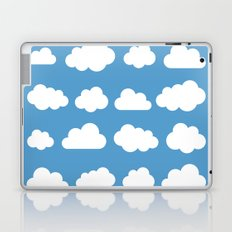White clouds on a blue skies Laptop & iPad Skin