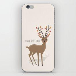 I love you deerly iPhone Skin