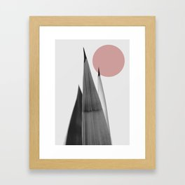 A tense quiete Framed Art Print