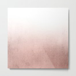 Rose Gold Ombre Metal Print