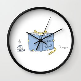 How to manipulate humans. Best seller book for cats. Wall Clock