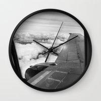 plane Wall Clocks featuring Plane by Laheff