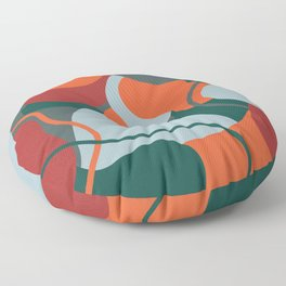 abstract rushmore Floor Pillow