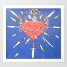 Lethal Sacred Heart Art Print