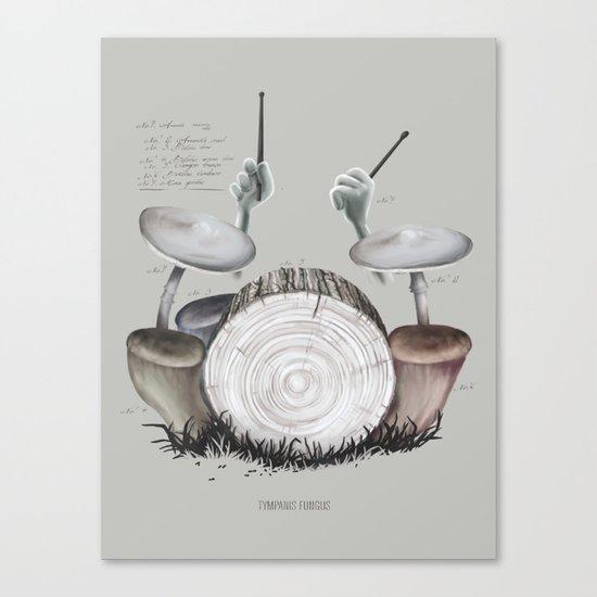 Mushroom drums Canvas Print