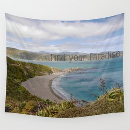 Find your Paradise Wall Tapestry