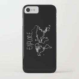 Explore World Map iPhone Case