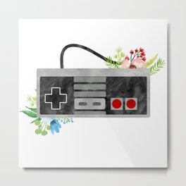 Here We Are Now, Entertain NES Metal Print