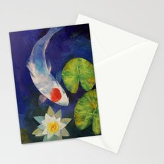 Tancho Koi and Water Lily Stationery Cards