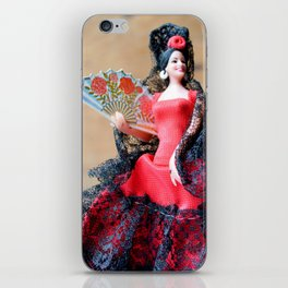 Flamenco doll  iPhone Skin