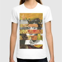 Frida Kahlo's Self Portrait with Parrot & Joan Crawford T-shirt