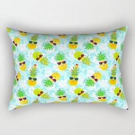 Funny Tropical Christmas Pineapples Rectangular Pillow