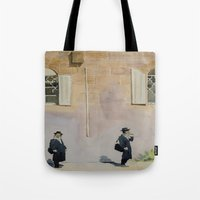 jewish Tote Bags featuring Jewish Quarter by Andrey Esionov