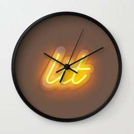 Lit (Neon) Wall Clock