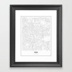 Paris, France Minimalist Map Framed Art Print