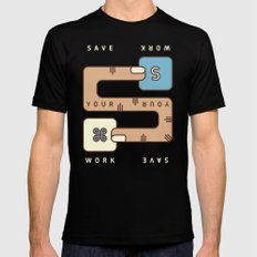 Save Your Work Mens Fitted Tee MEDIUM Black