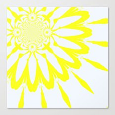 The Modern Flower Yellow & White Canvas Print