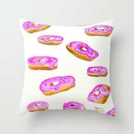 Everyone loves donuts Throw Pillow