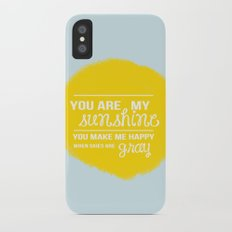 You Are My Sunshine - Child's Art Print Slim Case iPhone X